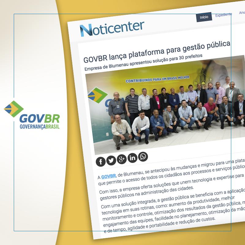 GOVBR realiza Congresso para lançar a nova Plataforma de Governança na Gestão Pública, sendo destaque em vários jornais/portais! Confira as matérias:
