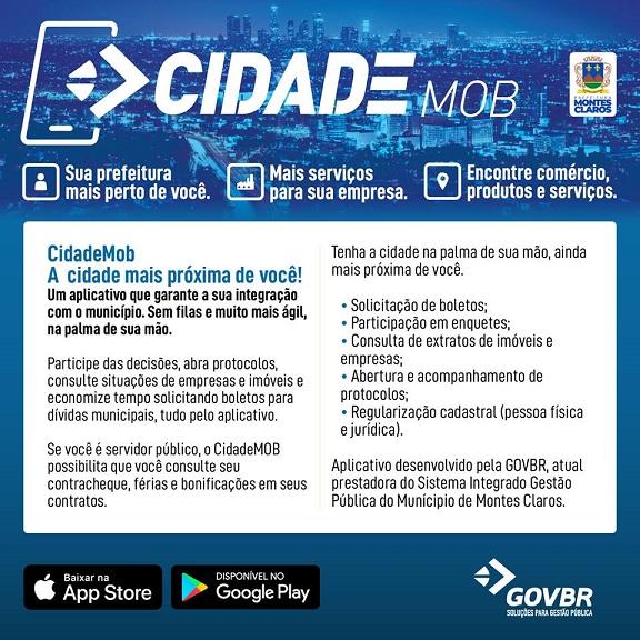 Prefeitura de Montes Claros implanta o Cidade Mob! Confira a notícia: