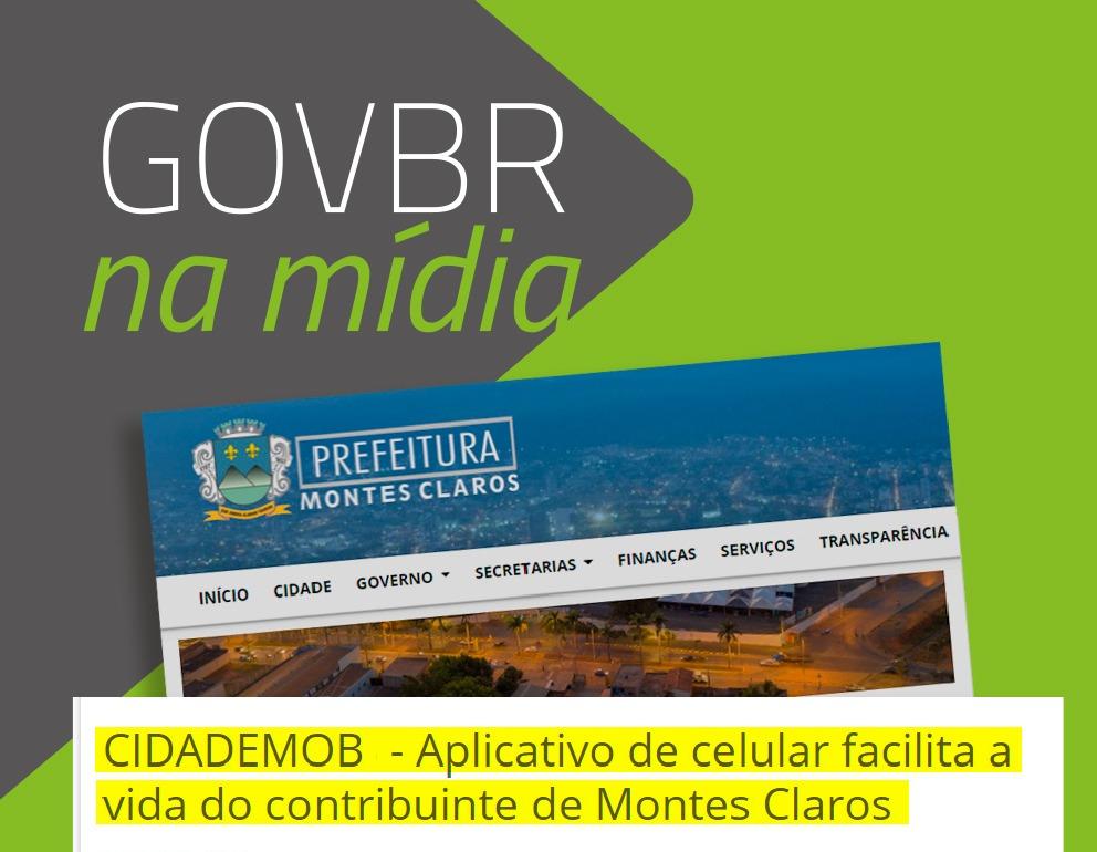 CidadeMOB – Aplicativo de Celular Facilita a Vida do Contribuinte de Montes Claros